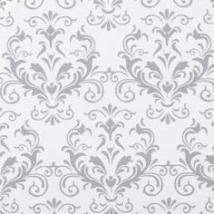 """Duck Brand Smooth Top Non-Adhesive Shelf Liner, 20"""" x 6', Grey Damask"""