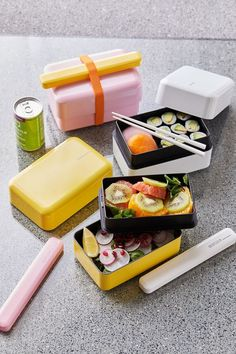 Bento Box | Urban Outfitters Urban Outfitters, Modern Outdoor Kitchen, Bento Box Lunch, Lunch Boxes, Summer Kitchen, Restaurant, Dinnerware Sets, Box Design, Safe Food