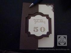 Karte zum Geburtstag, ganz einfache Geburtstagskarte mit Stampin Up
