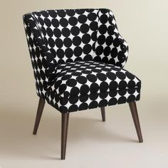One of my favorite discoveries at WorldMarket.com: Jet Dotscape Audin Upholstered Chair