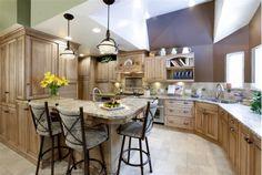 Heartwood maple kitchen design