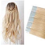 Remy Tape-in Hair Extensions Human Hair Grade Double Side Tape Seamless Skin Weft Natural Hair Extensions Long Straight / 18 inch , Bleach Blonde) *** For more information, visit image link. (This is an affiliate link) Blonde Hair Care, Bleach Blonde Hair, Best Human Hair Extensions, Tape In Hair Extensions, Natural Hair Styles, Long Hair Styles, Remy Human Hair, Hair Pieces, Hair Color