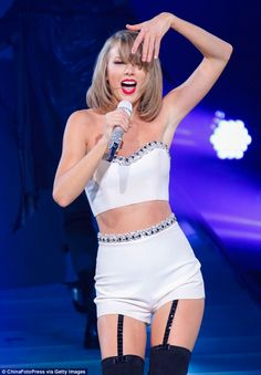 She's got the moves: Taylor gave the crowd a night to remember as she put her all into the...