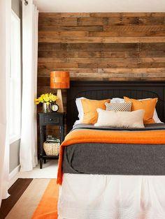 schlafzimmer interieur orange braunes interieur