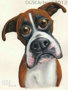 Boxer such a cute caricature! Cartoon Dog, Cartoon Drawings, Animal Drawings, Pencil Drawings, Horse Drawings, Pencil Art, I Love Dogs, Cute Dogs, Boxer Dogs
