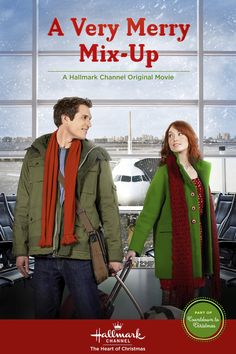 A Very Merry Mix-Up starring Alicia Witt and Mark Wiebe, part of Christmas Keepsake Holiday Preview. #christmaskeepsake