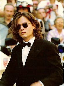 36370cb0bf Johnny Depp at the premiere for the movie Arizona Dream at Cannes Film  Festival on May