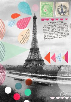 Elli Moody Paris, eiffel tower, collage