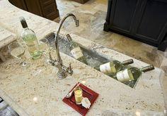 Philadelphia Design Home - contemporary - spaces - philadelphia - Kallista Plumbing Basement Home Office, Wet Bar Basement, Basement Bar Designs, Basement Ideas, Trough Sink, Bar Sink, Sink In Island, Prep Sink, Wet Bars