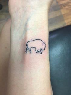 Buffalo Tattoo                                                                                                                                                                                 More Tribal Tattoos, Bull Tattoos, Tattoos Skull, Life Tattoos, New Tattoos, Tatoos, Bison Tattoo, Rat Tattoo, Skull Girl Tattoo