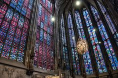 Stained Glass Windows Inside the Aachen Cathedral, Germany Palatine Chapel, Aachen Cathedral, Gothic Elements, Ottonian, Carolingian, Warm And Cool Colors, Religious Architecture, Glass Roof, Romanesque