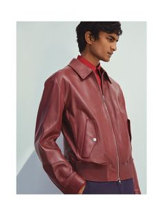 Marc New York by Andrew Marc Mens Sam Smooth Lamb Leather Jacket