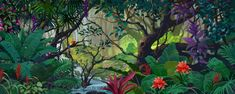 jungle book backdrops for school plays | 915D Jungle Paradise - Theatrical Backdrop Rentals by Kenmark