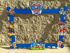 Paw Patrol Birthday Photo Booth Photo Prop Frame for by FalconArte