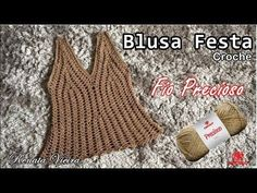 Blusa em croche rendada Cléa Parte 2 (busto) Renata Vieira - YouTube