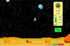 Can you avoid the boulder field and land safely, just before your fuel runs out, as Neil Armstrong did in 1969? Our version of this classic video game accurately simulates the real motion of the lunar lander with the correct mass, thrust, fuel consumption rate, and lunar gravity. The real lunar lander is very hard to control.