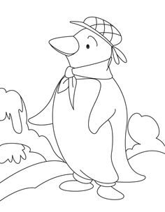 i have download fun and cool penguin coloring page