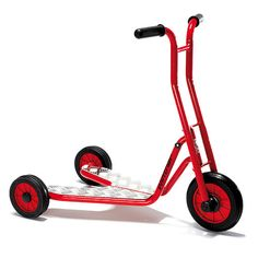Winther Viking  Safety Roller - This premium heavy duty Winther Safety Roller will give you many years of service. This robust three-wheeled scooter will help to improve children's sense of balance. The Safety Roller provides maximum stability and has strong slip-proof footplates.