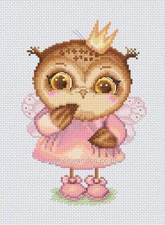 Buy+Princess+Owl+Chart+Online+at+www.sewandso.co.uk