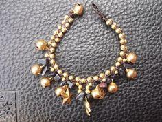 Thailand handmade bracelet nice jingle bells wax rope by Nannapatt, $7.50