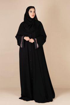 Arab Fashion, Muslim Fashion, Womens Fashion, Stylish Dress Designs, Stylish Dresses, African Fashion Dresses, Fashion Outfits, Mode Instagram, Black Abaya