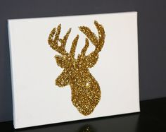 Gold Deer 14x11. $15.00, via Etsy.