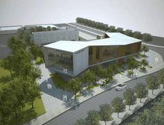 Coming soon: Rejovot Community Center. Facade Design, Exterior Design, Green Architecture, Architecture Design, Auditorium Architecture, Deconstructivism, Architecture Presentation Board, Futuristic City, Commercial Architecture