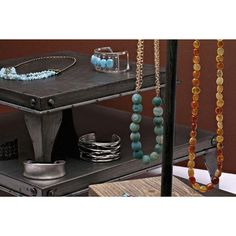Gunmetal-Finish Metal Three-Piece Riser Display Set    This three-piece riser set features sturdy metal platforms with a gunmetal washed finish that can be used separately or together to display various jewelry collections. Each square platform has contoured metal feet at the corners, providing stability and elevation. The three displays are all the same height, but the platforms are graduated in size, making it possible to create an impressive stacked display. Fabric Display, Rio Grande Jewelry, Bold Jewelry, Jewelry Displays, Jewelry Making Supplies, Stability, Jewelry Findings, Platforms, Jewelry Collection