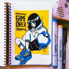 Crisalys is a Chilean artist interested in Illustration art. She often emphasizes sneakers in her drawings. Posca Art, Arte Sketchbook, Cute Art Styles, Poses References, Art Reference Poses, Marker Art, Kawaii Art, Pretty Art, Art Journal Inspiration