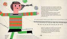 Com 3 Novelos, Escrito por Henriqueta Cristina e Ilustrado por Yara Kono, uma edição Planeta Tangerina. http://casaruim.com/produto/com-tres-novelos/