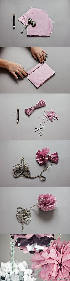DIY papper flowers!
