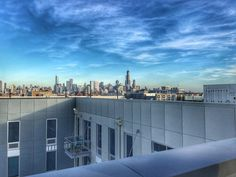 Office with a view enjoying it while I can since winter is coming. . . . . . #Chicago #skyline #rooftop #fall #67degrees #November #WestTown #WinterIsComing