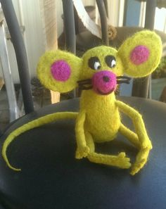 I love this little guy. Needle felted mouse