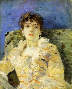 Young Woman on a Couch - Berthe Morisot