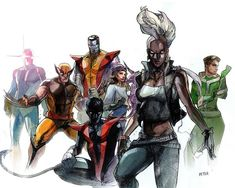 X-Men by Peter Nguyen #storm #nightcrawler #shadowcat#pitor