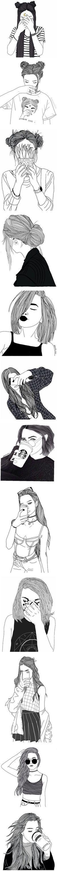 black line drawings