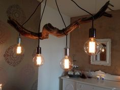 Diy lamp over dining table - cool.