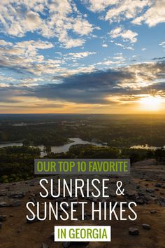 these great Georgia sunrise and sunset hikes to some of Georgia's most incredible views Camping Spots, Camping And Hiking, Hiking Trails, Places To Travel, Places To See, Hiking In Georgia, Travel Usa, The Great Outdoors, Sunrise