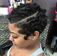 Best Short Pixie Hairstyles For Black Women 2018 2019 Short Weave Hairstyles 2019 Black - Curly Pixie Haircuts, Short Weave Hairstyles, Pixie Hairstyles, Short Hairstyles For Women, Black Hairstyles, Hairstyles 2016, Relaxed Hairstyles, African Hairstyles, Pretty Hairstyles