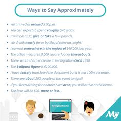 Ways to Say Approximately