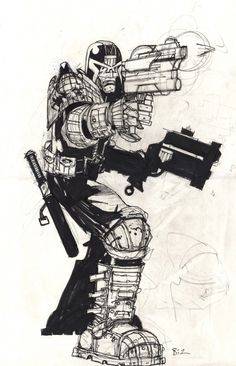 dredd...comic, art illustrations