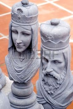 Picture of King and Queen Chess Pieces stock photo, images and stock photography. Chess King And Queen, Queen Chess Piece, Chess Piece Tattoo, Chess Tactics, King Pic, Anatomy Sculpture, Chess Set Unique, Art Through The Ages, Chess Pieces