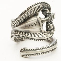 Sterling Spoon Ring Victorian Ornate and Elegant by Spoonier, $53.00