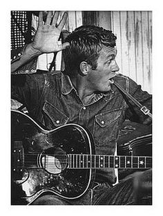Steve McQueen in denim  Wrangler Blue Bell work shirt. No one ever wore clothes better than Steve. 1930-1980