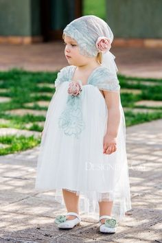 Picture of PAOLA βαπτιστικό φόρεμα κορίτσι Kid Dresses, Little Girl Dresses, Little Girls, Flower Girl Dresses, Baby Girl Fashion, Evening Party, Turban, Meal Prep, Party Dress