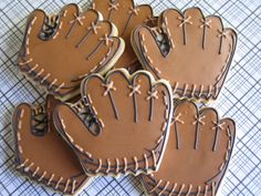 Baseball / Football / Sports Decorated Sugar Cookies 1 Dozen. $34.95, via Etsy.