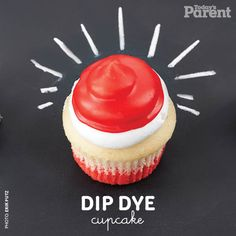Find out how to make this dip dye cupcake decoration! 30th Birthday, Birthday Parties, Todays Parent, Kid Check, Take The Cake, Crafty Kids, Sugar Rush, Dip Dye, Dips