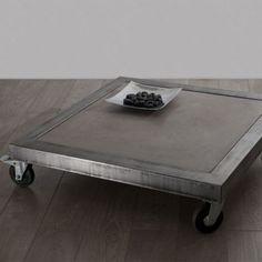 Table basse acier et béton