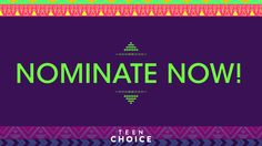 It's nomination time, teens! Nominate your faves on Twitter using the hashtags below followed by your nominee OR click the category below and fill in your nominee! Don't miss Teen Choice 2016 on Sunday, July 31 at 8/7c LIVE on FOX! Nominations close this