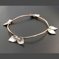 Bamboo Bracelet - Small Leaves - Ai Jewelry